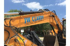 JW Clardy Construction Company Crane Graphic